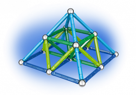 Geomag Color 91 piese - Albastru si Verde4