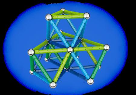 Geomag Color 91 piese - Albastru si Verde1