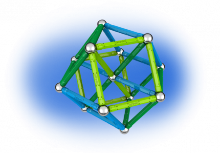 Geomag Color 91 piese - Albastru si Verde2