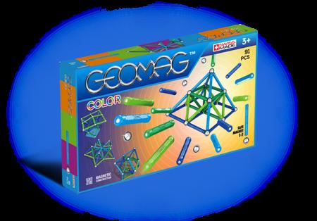 Geomag Color 91 piese - Albastru si Verde0