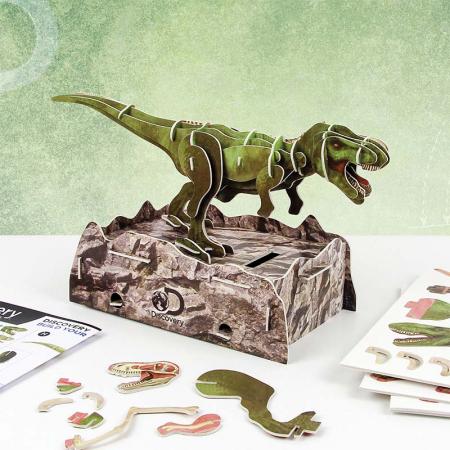 Puzzle 3D Discovery - Anatomia Dinozaurului T-Rex0