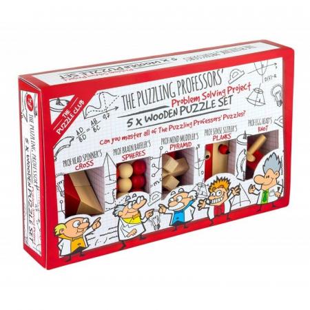 Puzzling Professors 5 x Wooden Set0