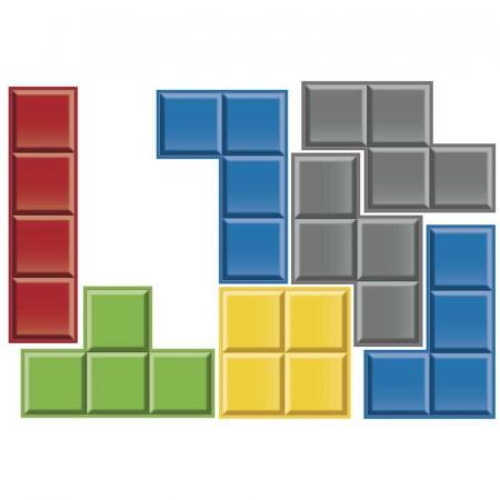 Sticker de perete Tetris1