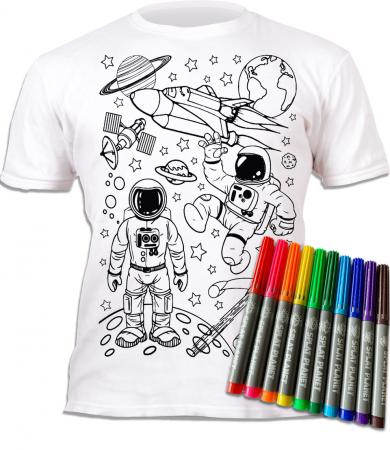 Tricou de colorat cu markere lavabile Cosmos1