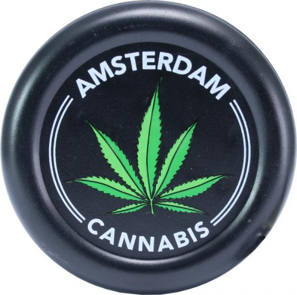 Plastic Grinder Amsterdam Leaf - Black 0