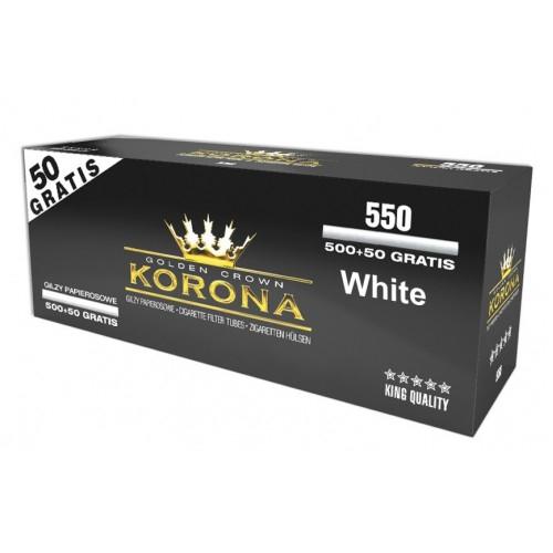 Tuburi tigari standard KORONA White 550 0