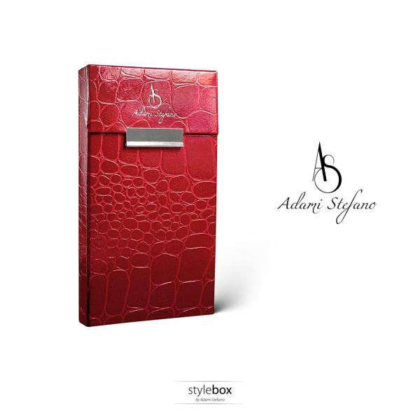 Husa ADAMI STEFANO pentru Pachete de Tigari Slim Leather Red [0]