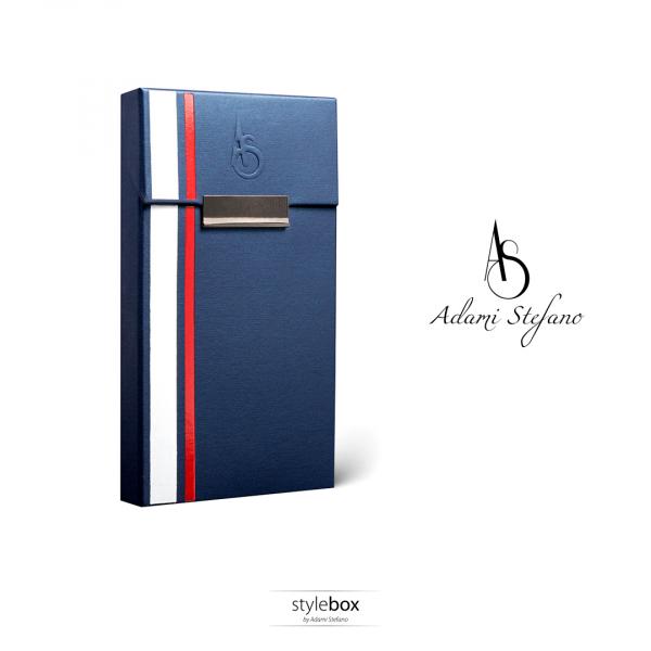 Husa ADAMI STEFANO pentru Pachete de Tigari Slim Size Albastru mat 0