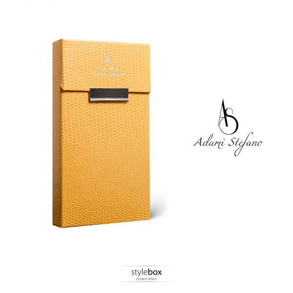 Husa ADAMI STEFANO pentru Pachete de Tigari Slim Size Galben 0