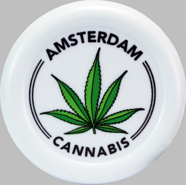 Plastic Grinder Amsterdam Leaf - White 0