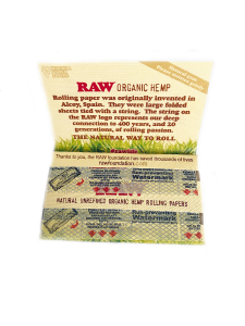 Foite rulat Raw Organic Double (50)2