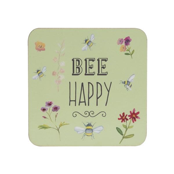 Set suport pahare Bee Happy, David Mason Design, 4 bucati. 0