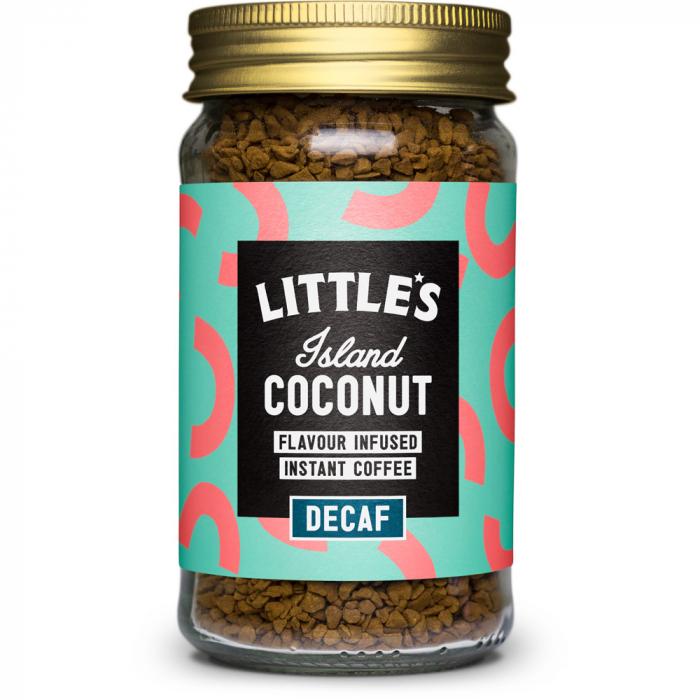 Cafea instant decofeinizata cu aroma de cocos,  Little's, 50 gr [0]