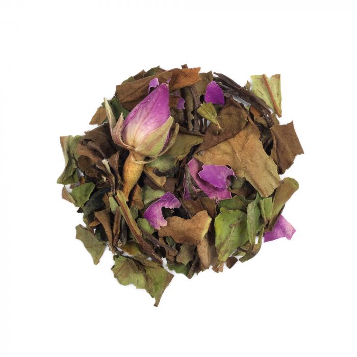 Ceai alb cu boboci de trandafir, Chelsea Garden, vrac, 50 gr [0]