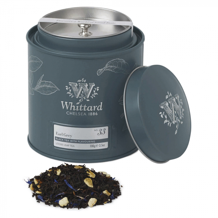 Ceai negru  Earl Grey tea caddy, Whittard of Chelsea,100gr 0