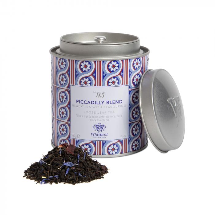 Ceai negru Piccadilly Blend, frunze, ambalat in cutie metalica, Whittard of Chelsea 0