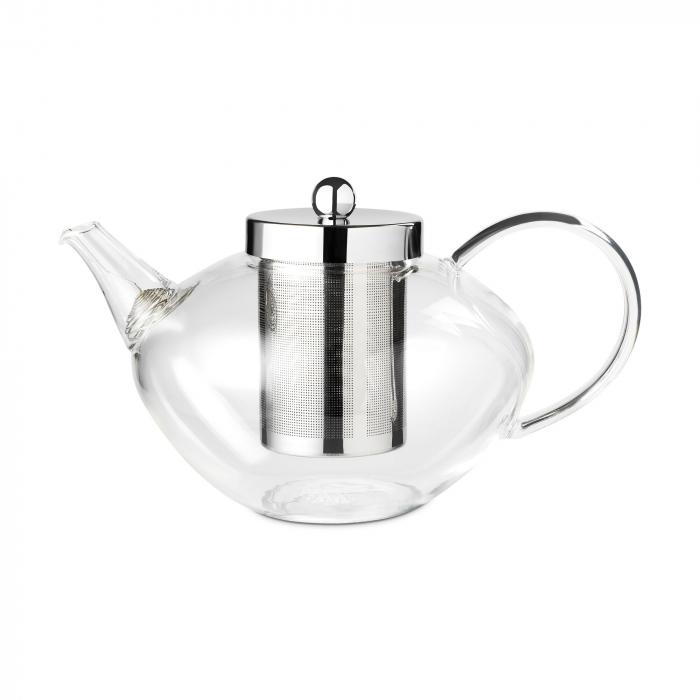 Ceainic Chelsea din sticla, ideal pentru preparea ceiului frunze, 1200ml, include infuzor din otel inoxidabil. 0