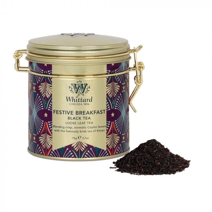 Festive Breakfast Tea, ceai negru, colectie Craciun, 75 gr. 1