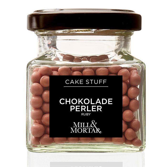 Perle de ciocolata Ruby,  pentru decor,  Mill&Mortar, 45 g [0]