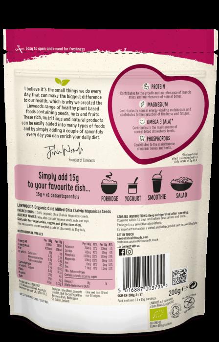 Seminte Chia organice, Linwoods, 200 gr [1]