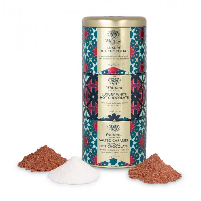 Set cadou trei tipuri ciocolata calda, editie limitata de Craciun. 1