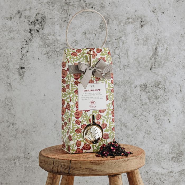 Set ceai cu infuzor argintat English Rose, Tea Discovery, 100 gr 1