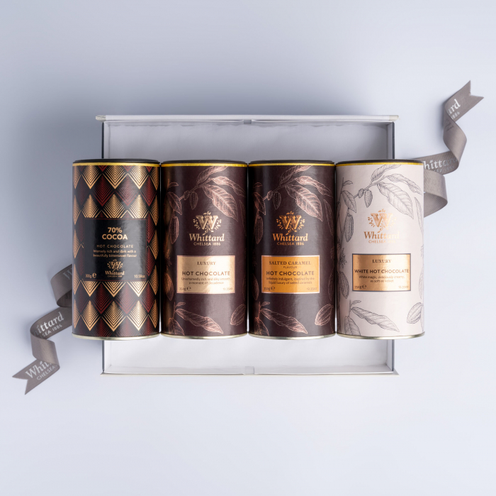 Set cadou ce include patru tipuri de ciocolata calda, Whittard of Chelsea. 1