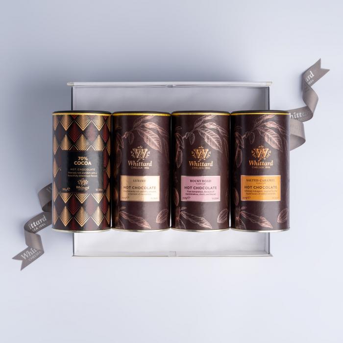 Set cadou cu patru tipuri de ciocolata calda, Whittard of Chelsea 1