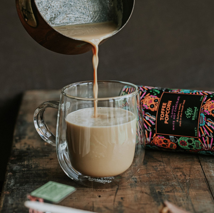 Toffee Popcorn Hot Chocolate, ciocolata alba in editie limitata, 350 gr., Whittard of Chelsea 1
