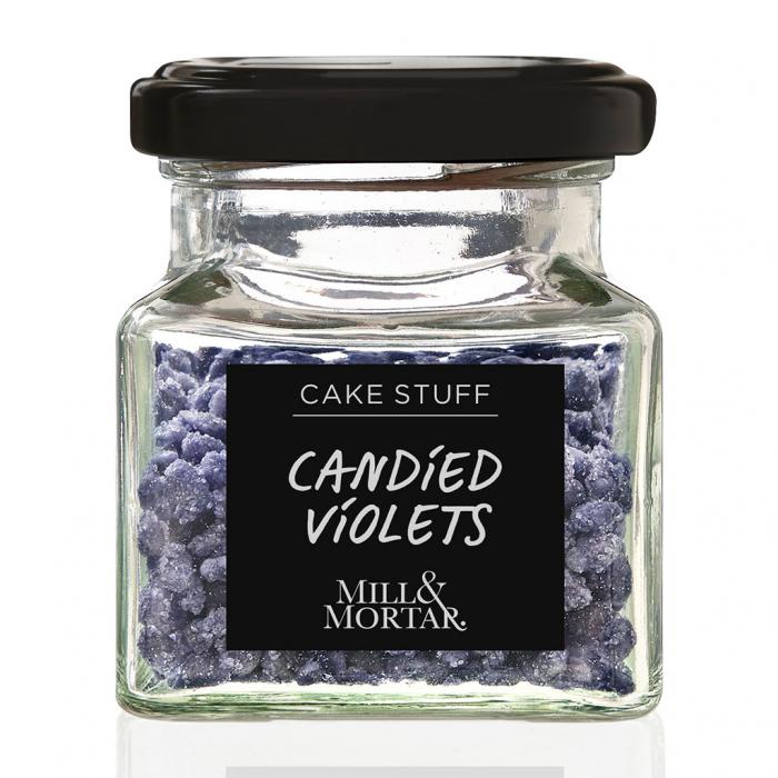Petale de violete confiate, organic, Mill&Mortar, 40 gr [0]