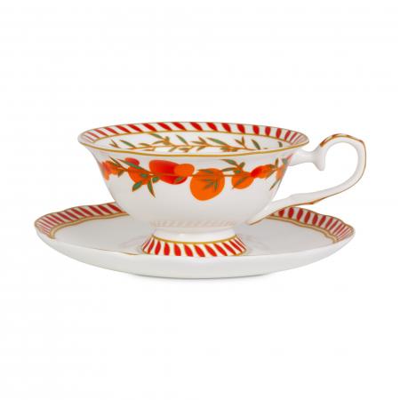 Ceasca cu farfurie din portelan, Mango& Bergamot, Tea Discoveries, Whittard of Chelsea0