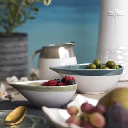 Bol ceramic verde teadrop, colectia Refelection, David Mason Design [1]