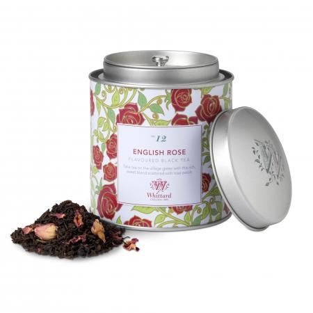 Ceai negru English Rose, frunze, ambalat in cutie metalica, colectia Tea Discovery, Whittard of Chelsea [0]