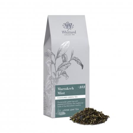 Ceai verde cu menta, Marrakech Mint, frunze, 100 gr., Whittard of Chelsea [0]