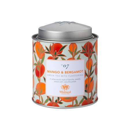 Ceai verde Mango&Berrgamot, frunze, ambalat in cutie metalica, colectia Tea Discovery, Whittard of Chelsea [1]