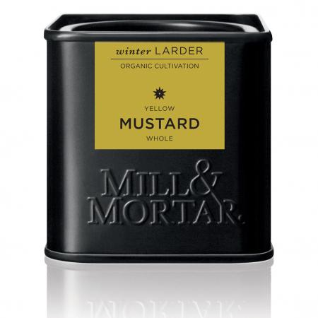 Seminte de mustar,  Mustard Seeds, Yellow, organic, Mill&Mortar, 70gr0