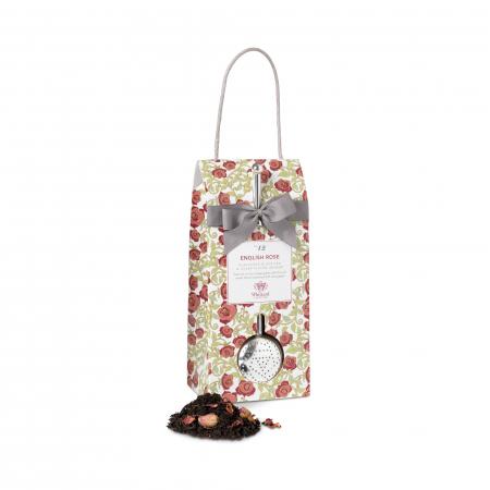 Set ceai cu infuzor argintat English Rose, Tea Discovery, 100 gr0