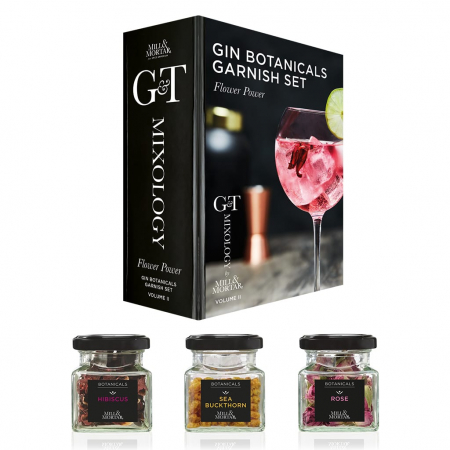 Set mirodenii organice pentru gin, Flower Power, G&T, Garnish Set, Mixology, Mill&Mortar [0]
