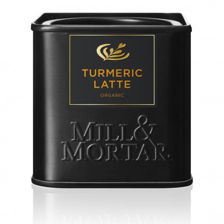 Turmeric latte, Organic, pentru cafea, lapte, ciocolata calda,  Mill&Mortar, 50 gr0
