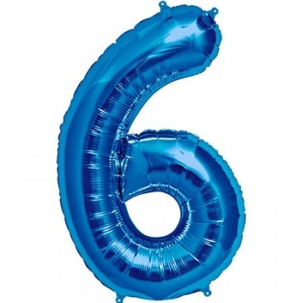 Balon folie cifra 6 [0]
