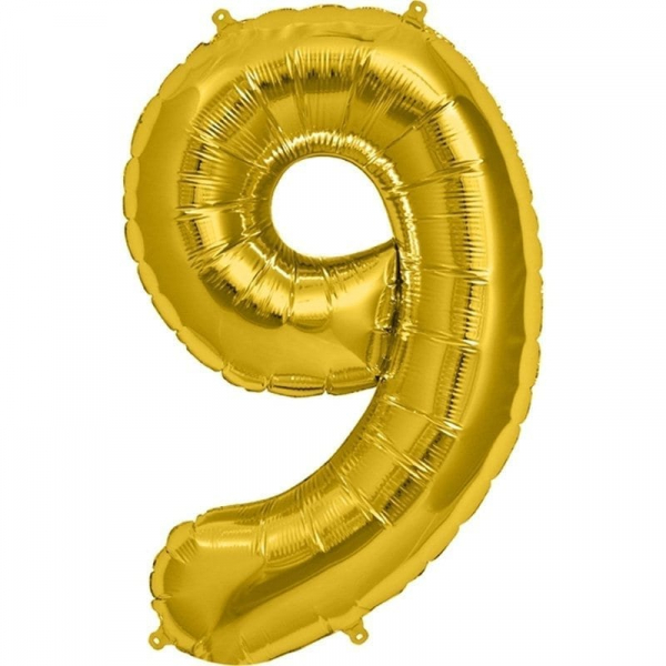 Balon folie cifra 9 0