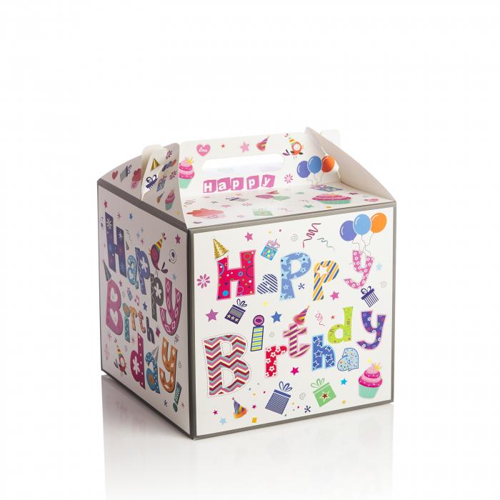 "Cutie patrata montabila tort ""Happy Birthday"" [0]"