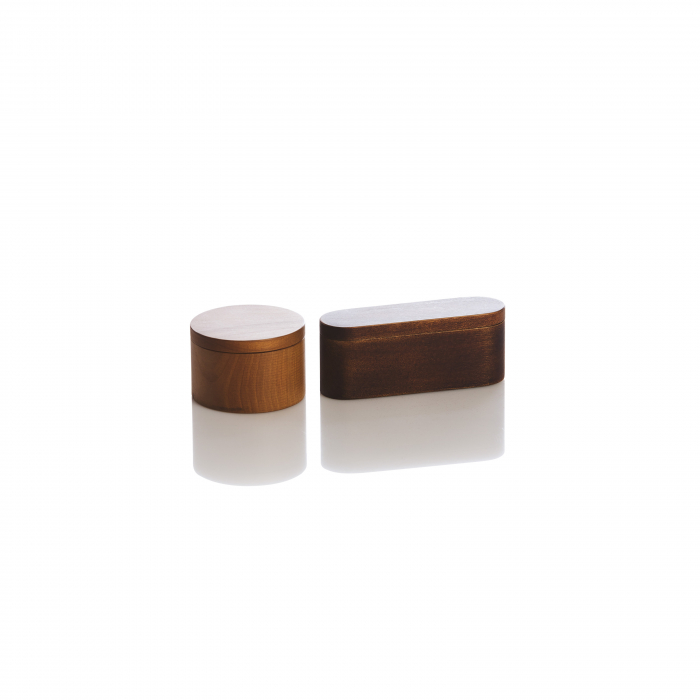 Cutie pentru verighete din lemn de nuc 0
