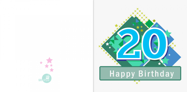 Felicitare 20 ani baiat 1