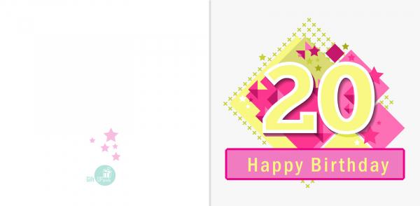 Felicitare 20 ani fata [1]