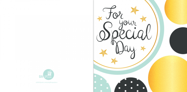 Felicitare For Your Special Day 0