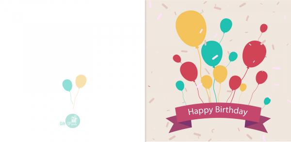 Felicitare Happy Birthday Baloane [0]