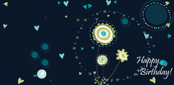 Felicitare Happy Birthday Blue 1