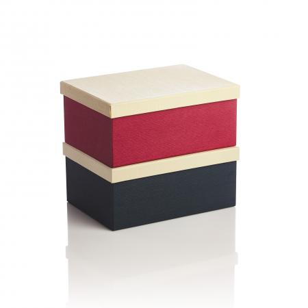 Cutie dreptunghiulara albastru sau rosu, capac bej3