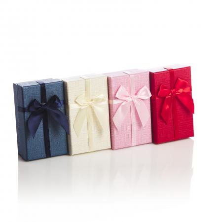 Cutie dreptunghiulara papion uni rosu albastru bej sau roz [2]